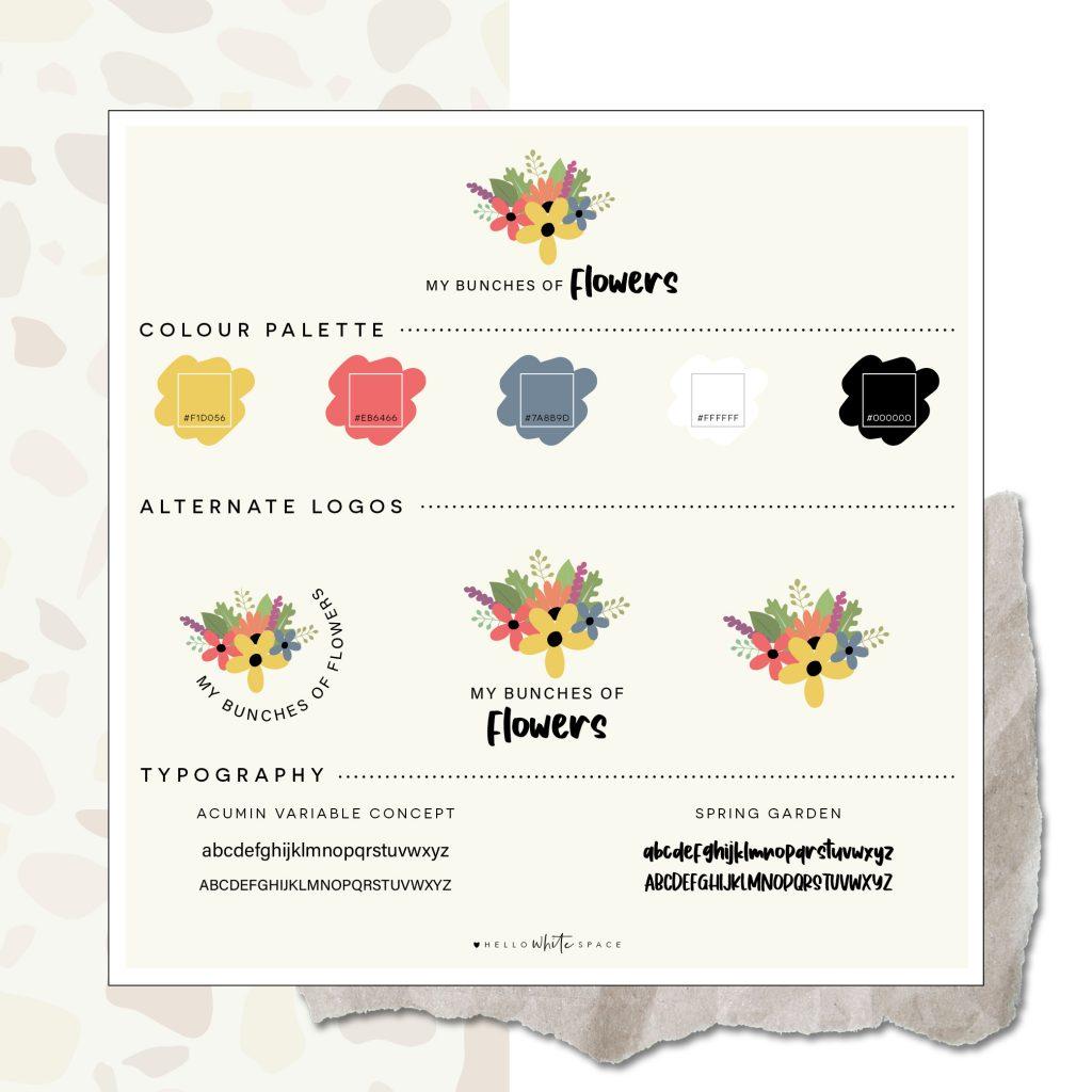 Hello White Space | brand and website design | brand board