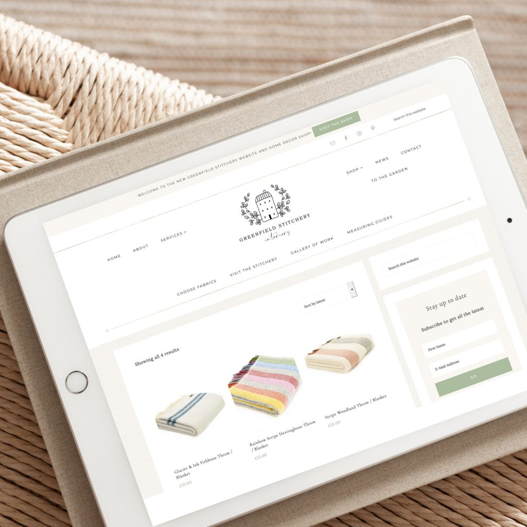 Hello White Space   brand and website design   ecommerce website build