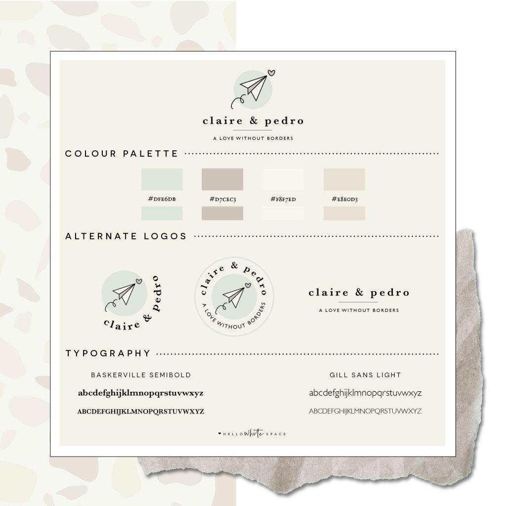 Hello White Space   brand and website design   brand board