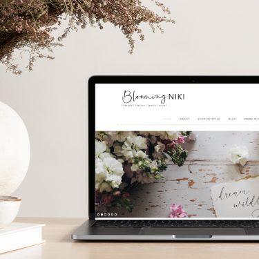 Blooming Niki | Web Design