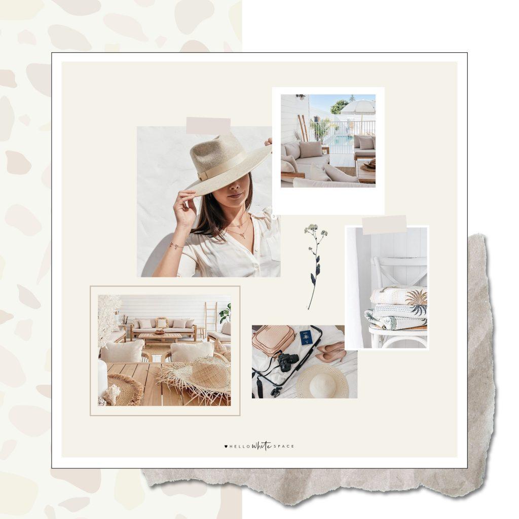 Hello White Space | brand and website design | mood board
